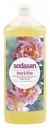 SODASAN Органическое Мыло Rose-Olive жидкое, тонизирующее  с розовым и оливковым маслами 1 л