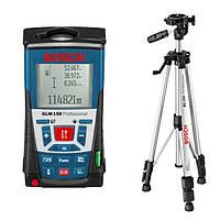 Дальномер лазерный Bosch GLM 150 +  BS150