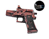 Сувенирный Пистолет Deshan зажигалка (Турбо пламя, лазер)