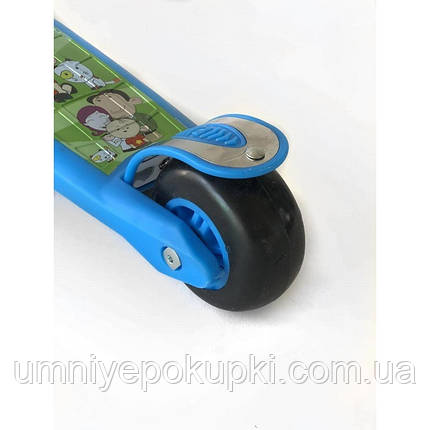 Самокат детский Scooter с пропеллером 2020 New 818 Синий, фото 2