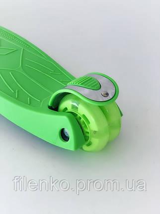 Самокат дитячий Scooter Pro з підсвічуванням коліс 036 Зелений, фото 2