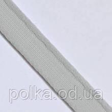Туннельная лента плотная, ширина 1см, цвет серый светлый (Турция)