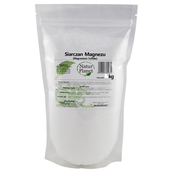 Английская соль, соль Эпсома (Epsom), сульфат магния - порошок 500 г, Natur Planet