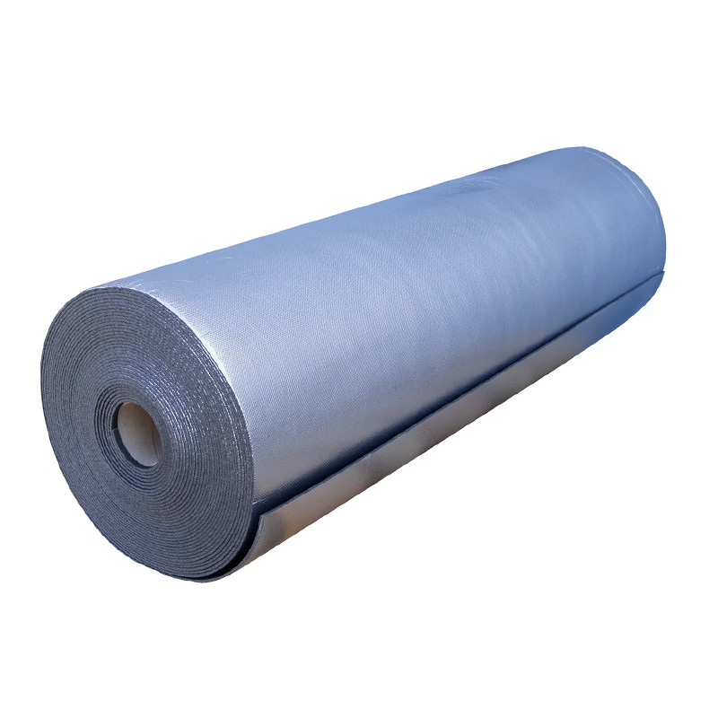 Пенополиэтилен Polifoam 4 мм  ламинированный металлизированной пленкой BOPP (3004/BOPP 1,1х25м)