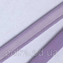 Туннельная лента плотная, ширина 1см, цвет сиреневый лаванда (Турция)