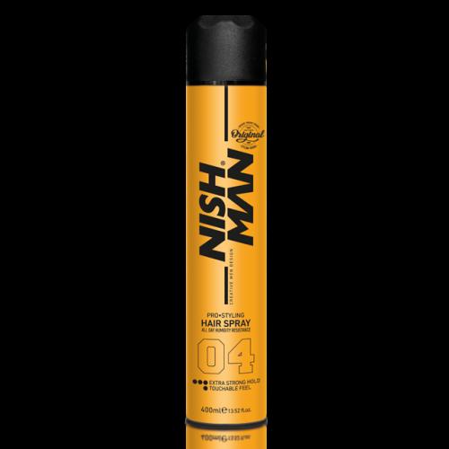 Nishman лак аэрозольный для укладки волос экстра фиксация 400мл