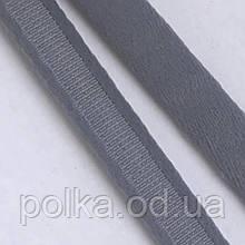 Туннельная лента плотная, ширина 1см, цвет серый  (Турция)