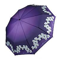 Женский зонтик полуавтомат с орхидеями от Flagman / Флагман, фиолетовый,  733-8, фото 1
