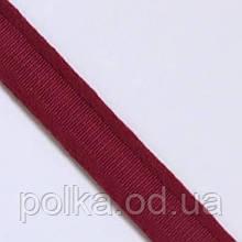 Туннельная лента плоская, ширина 1см, цвет красный бордовый (Турция)