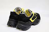 Жіночі чорні кросівки з натуральної шкіри. Жіночі шкіряні кросівки чорного кольору., фото 3