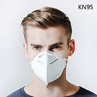 Маска-Респіратор KN95 6-шарів FFP2 95% Респиратор Захисна Защитная Противірусна Противирусная