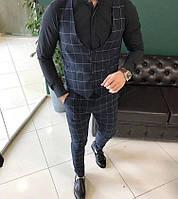 Темно-синий мужской костюм smm