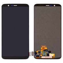 Дисплей OnePlus 5T A5010 с сенсором (тачскрином) черный, OLED