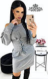 """Платье мини из трикотажа с корсетом """"Aysel"""".Распродажа, фото 3"""