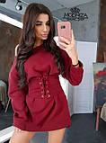 """Сукня міні з трикотажу з корсетом """"Aysel"""".Розпродаж, фото 7"""