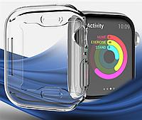 Чехол-накладка DK Silicone Clear Face Case для Apple Watch 44mm (clear)