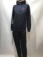 Мужской спортивный костюм в стиле Nike синий, фото 1