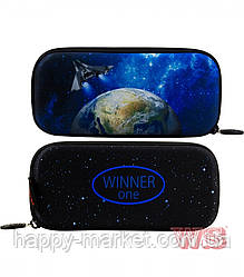Пенал твердий для хлопчика каркасний Winner One без наповнення Планета Р-217