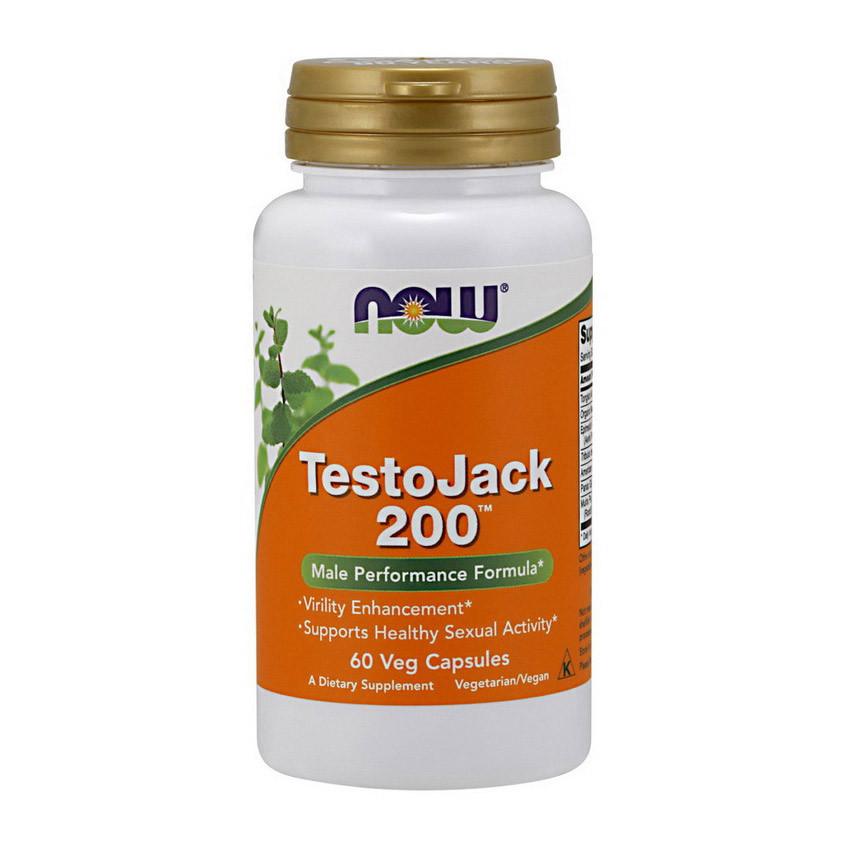Повышение тестостерона NOW Testo Jack 200 60 veg caps