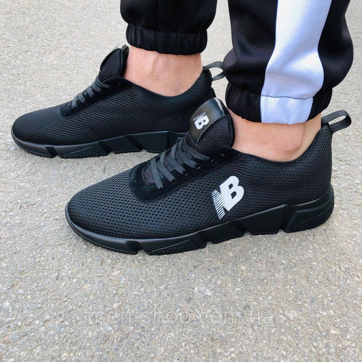Черные мужские кроссовки в стиле New Balance