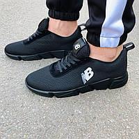 Черные мужские кроссовки в стиле New Balance, фото 1