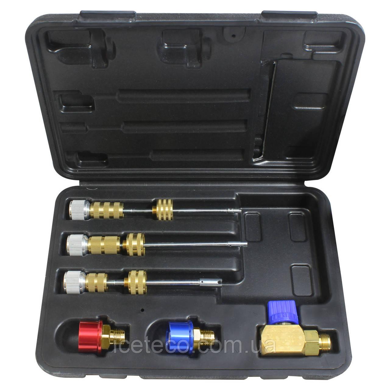Набор сервисных вентилей для А/С без стравливания фреона R1234yf Mastercool MC 58490-YF