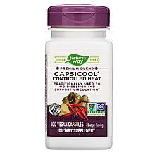 """Кайенский перец и имбирь Nature's Way """"CapsiCool Controlled Heat"""" для циркуляции крови, 780 мг (100 капсул)"""