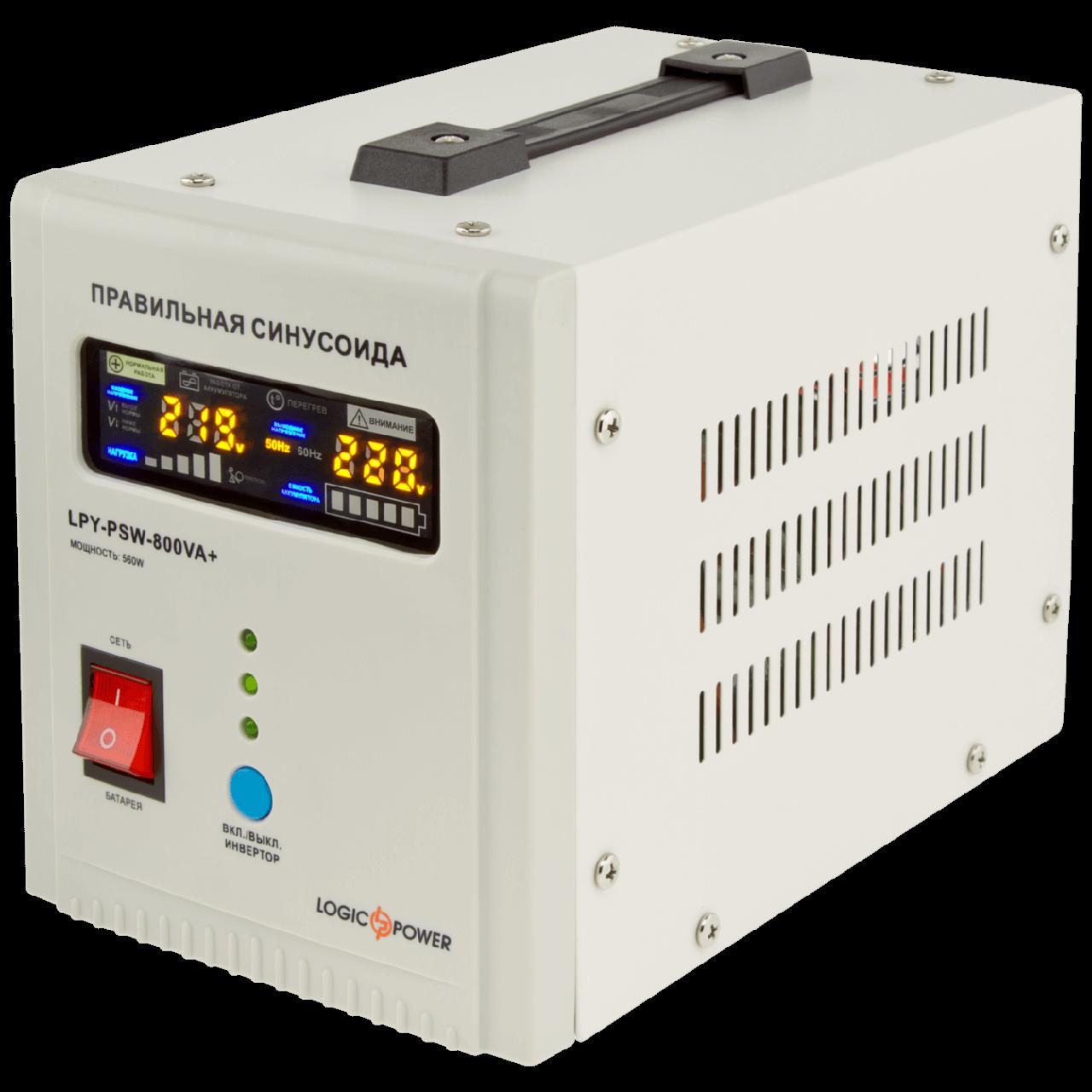 ИБП LPY- PSW-800VA+ (560Вт) 5A/15A 12Вт, правильная синусоида