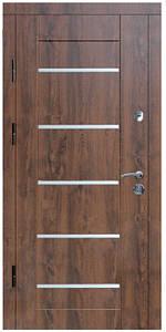 """Входные двери металлические, рис. """"БМ"""" №1, Цвет ПВХ-02. Алюминиевая полоса 20 мм"""