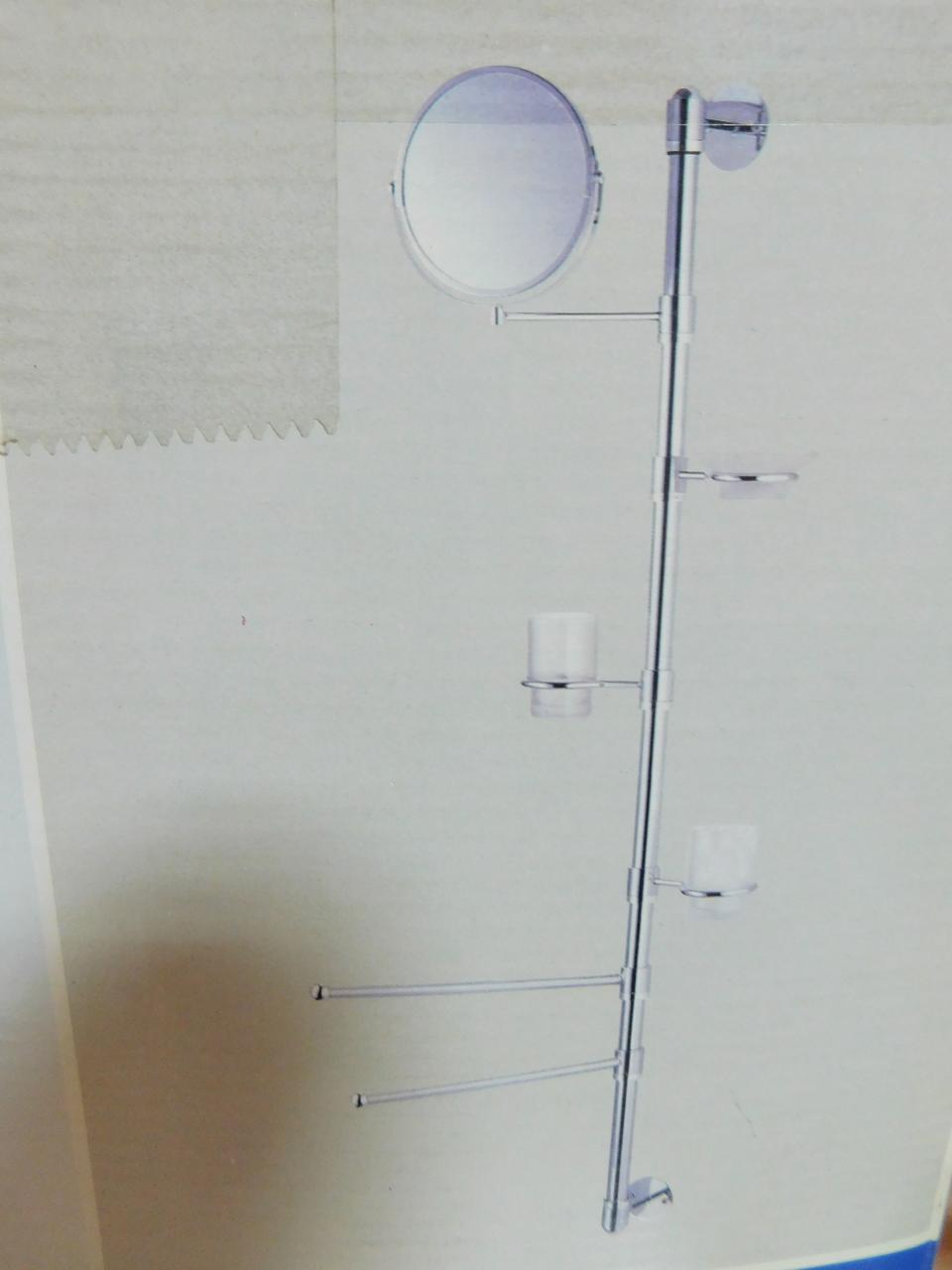 Стойка телескопическая для туалетных принадлежностей Artemo 280547
