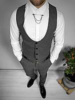 Серый мужской костюм