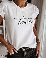 Женская коттоновая футболка Разные цвета