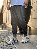 Темно-серые мужские спортивные штаны smm в полоску
