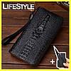 Чоловічий гаманець, клатч, портмоне Aligator + Подарунок