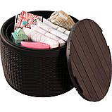 Стіл - скриня Keter Circa Rattan Storage Box 140 L Brown ( коричневий ), фото 3