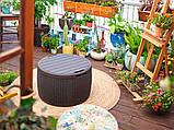 Стіл - скриня Keter Circa Rattan Storage Box 140 L Brown ( коричневий ), фото 5