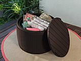 Стіл - скриня Keter Circa Rattan Storage Box 140 L Brown ( коричневий ), фото 10
