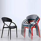 Штабелируемый стул пластик с подлокотниками Nelson (Нельсон), белый, фото 6