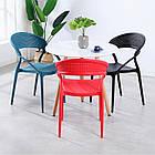 Штабелируемый стул пластик с подлокотниками Nelson (Нельсон), белый, фото 5