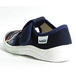 Тапочки капчики Валді Waldi для сменки садка хлопчика Гриша Машина синій.Розмір 24, фото 4