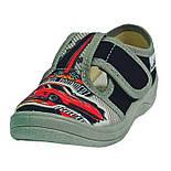 Тапочки капчики текстиль для мальчика хлопця валди waldi для садика Гриша Racing черный.Размеры 24-30., фото 2