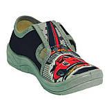 Тапочки капчики текстиль для мальчика хлопця валди waldi для садика Гриша Racing черный.Размеры 24-30., фото 7