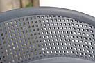 Штабелируемый стул пластик с подлокотниками Nelson (Нельсон), белый, фото 7