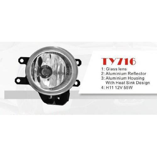 Фара противотуманная DLAA TY-716-W Toyota Previa/Corolla/Camry/Rav/Yaris/Avensis