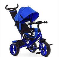 Велосипед детский трехколесный с ручкой Turbotrike (Синий)