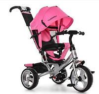 Велосипед детский трехколесный с ручкой Turbotrike (Розовый)
