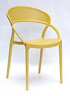 Штабелируемый стул пластик с подлокотниками NELSON (Нельсон), желтый