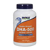 Жирные кислоты NOW DHA-500/250 EPA 180 softgels Докозагексаеновая и Эйкозапентаеновая кислоты