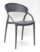 Штабелируемый стул пластик с подлокотниками NELSON (Нельсон), антарцит