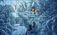 Пазл детский Зимние приключения 180х270 мм